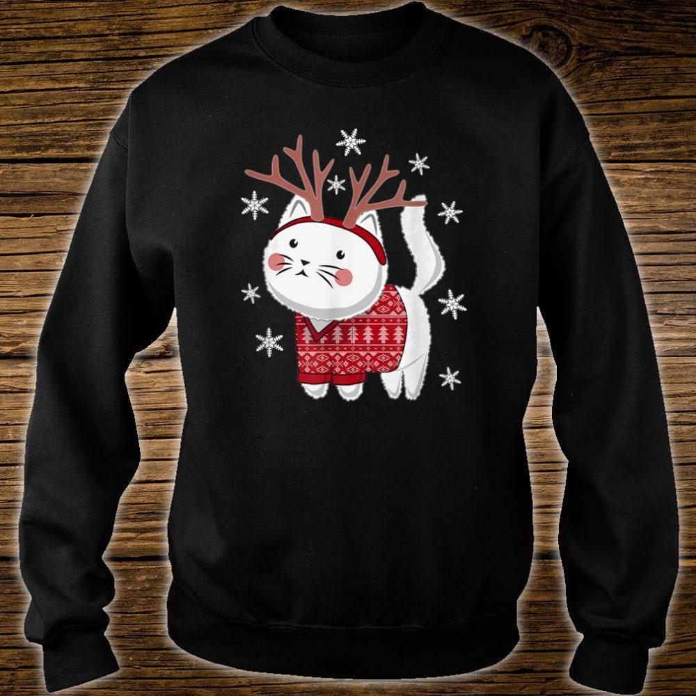 Ugly Christmas Cat Deer Shirt sweater