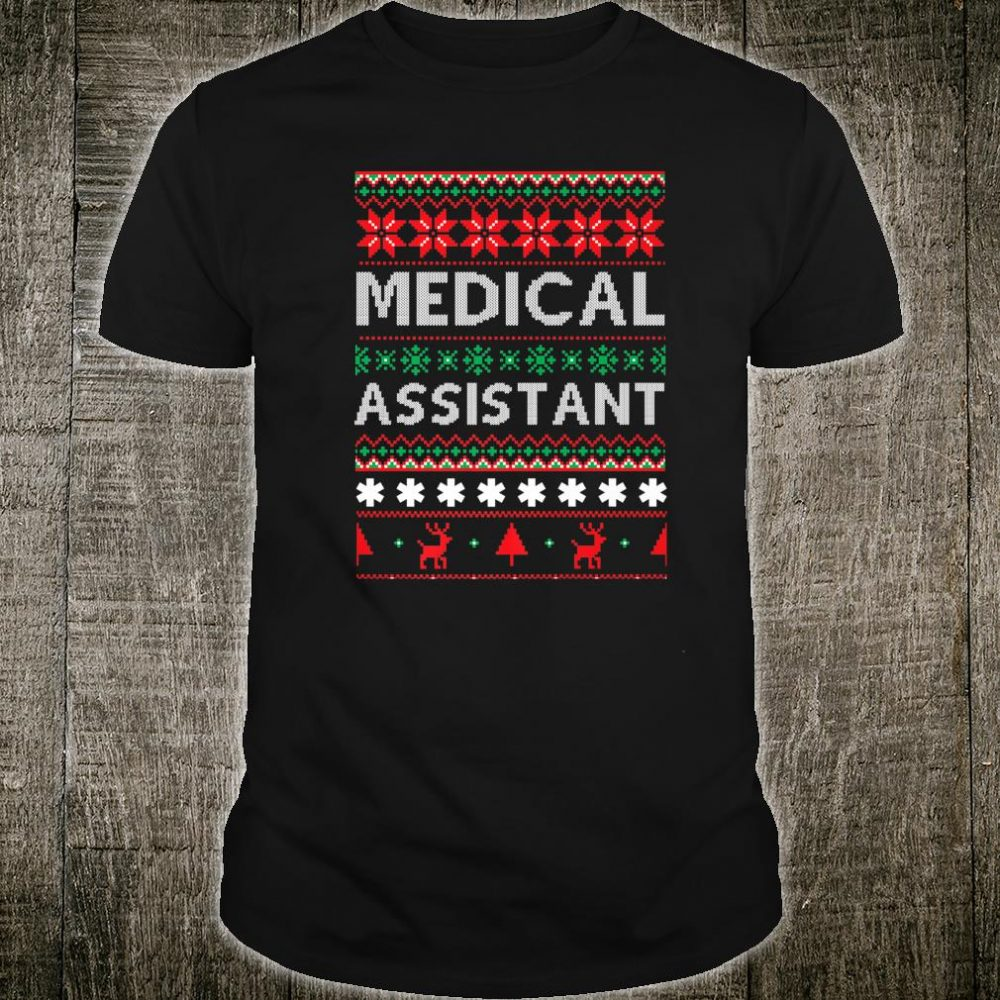 Ugly Medical Assistant Christmas Santa Claus Xmas Nurse Shirt
