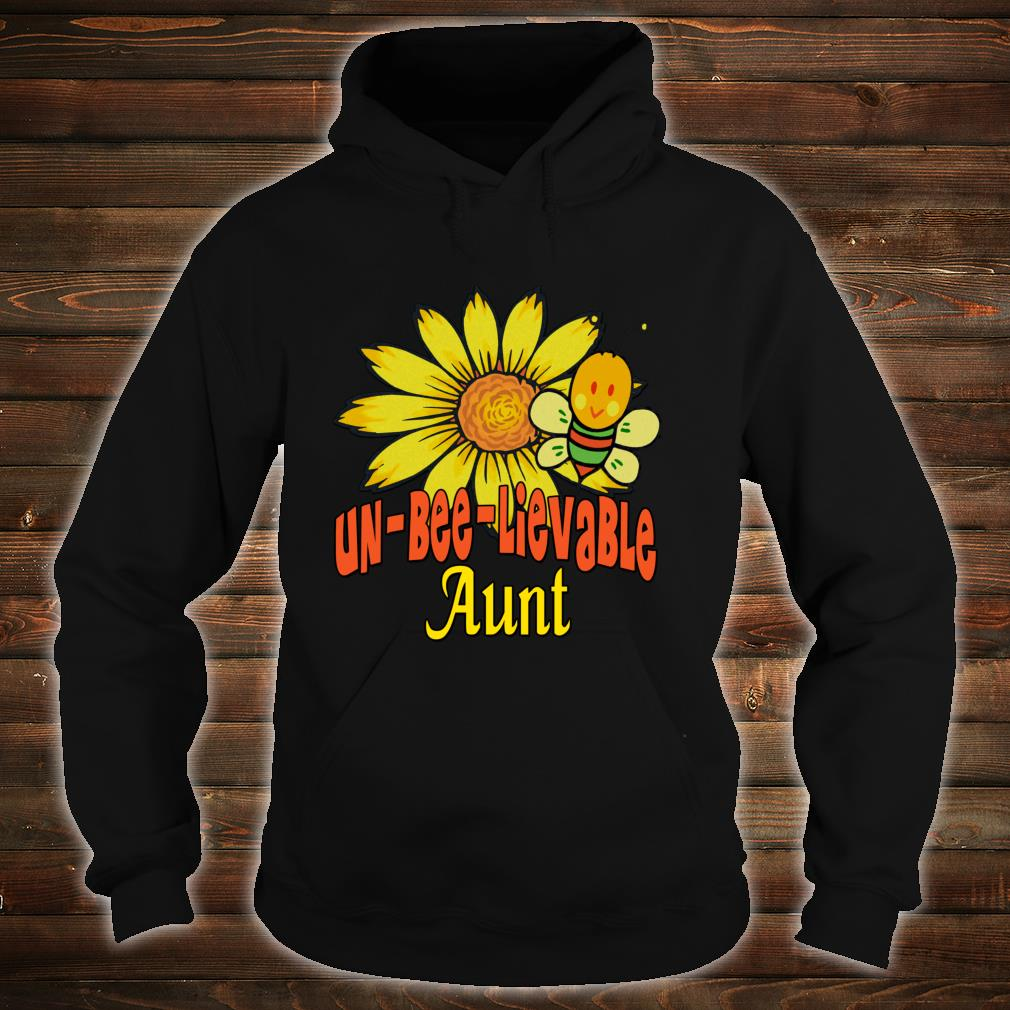 Unbelievable Aunt Best Aunt Ever Sunflower And Bees Shirt hoodie
