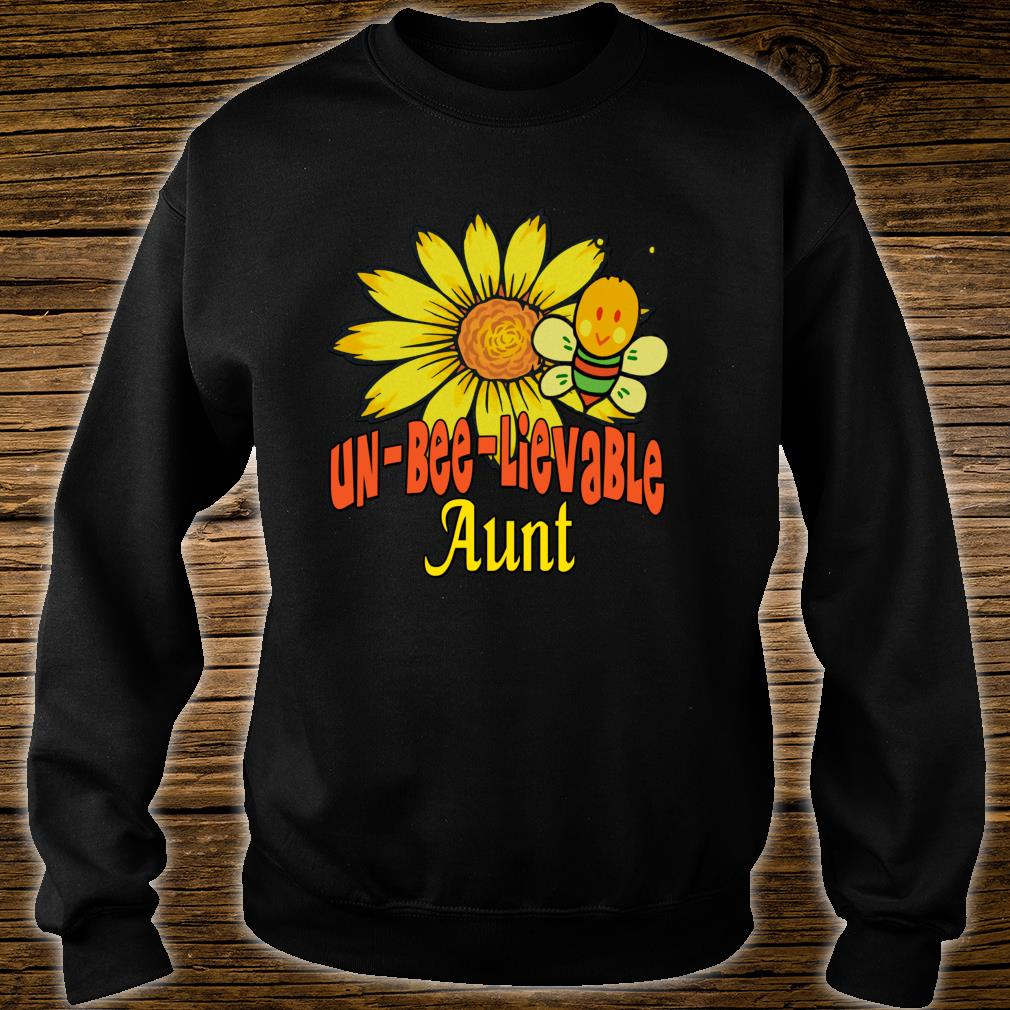Unbelievable Aunt Best Aunt Ever Sunflower And Bees Shirt sweater