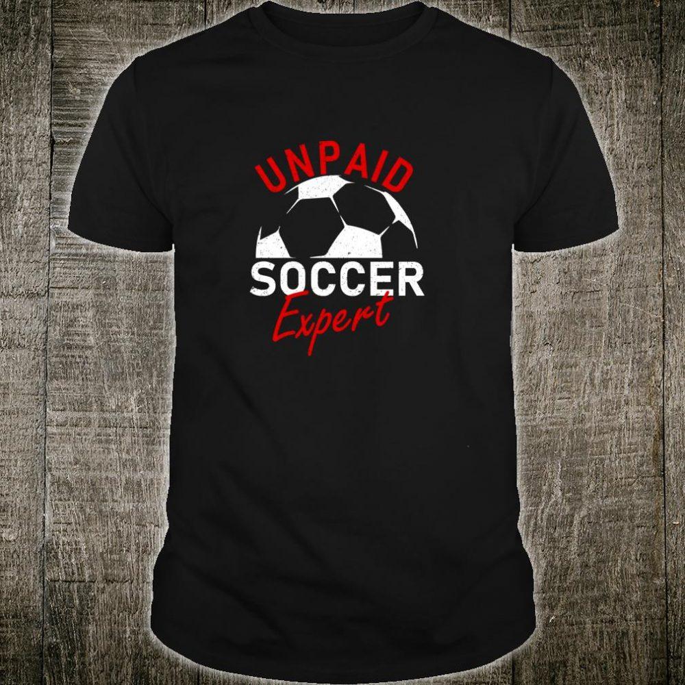 Unpaid Soccer Expert Vintage Hilarious Soccer Ball Shirt