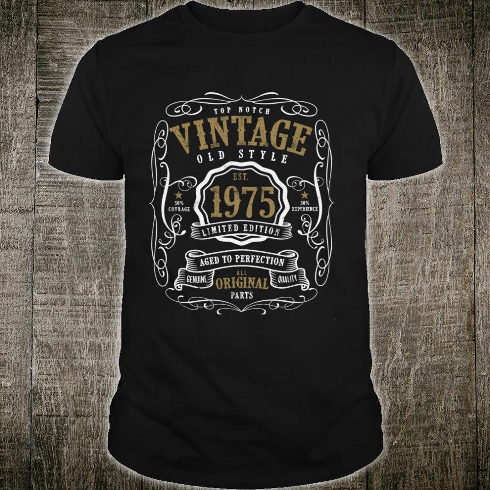Vintage 1975 Birthday and, 45th Birthday Shirt