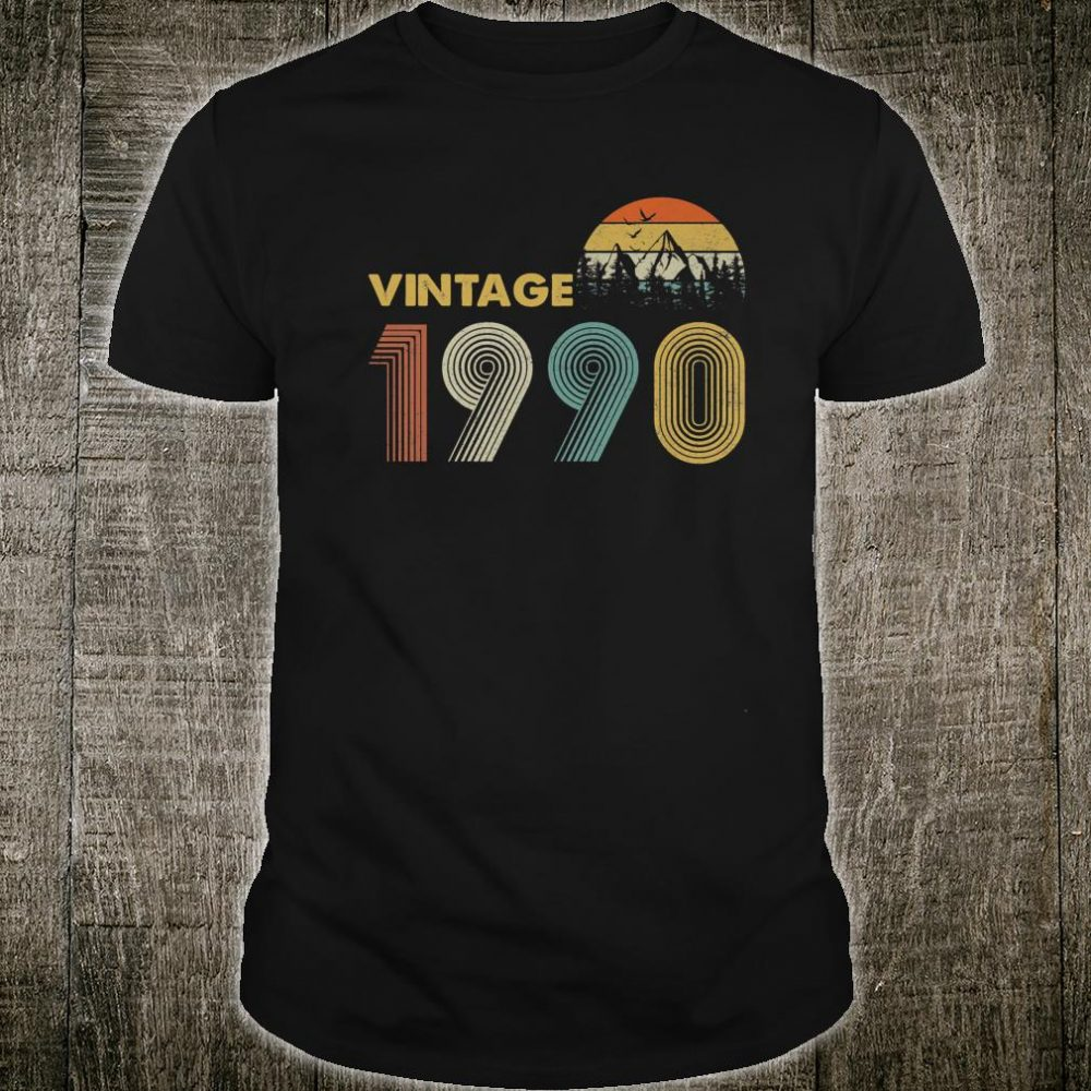 Vintage 1990 30 Years Old, 30th Birthday Shirt