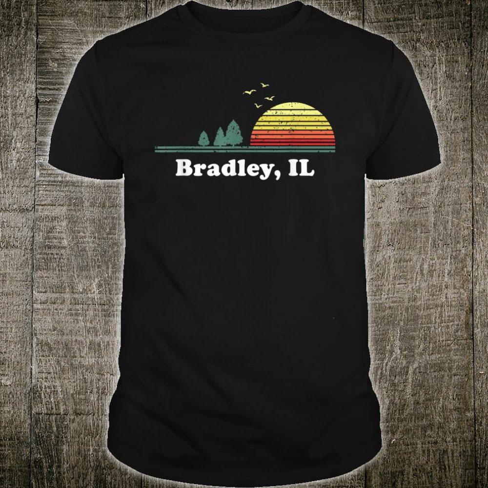 Vintage Bradley, Illinois Home Souvenir Print Shirt