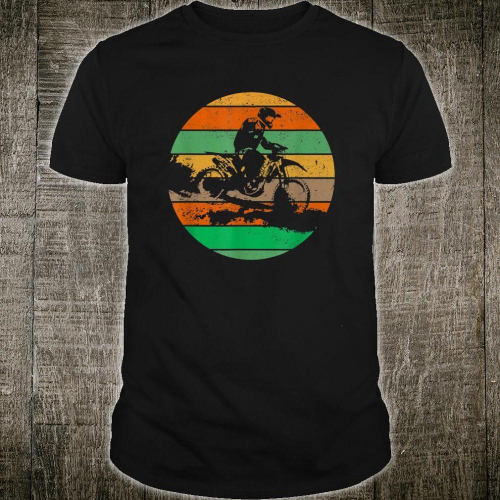 Vintage USA American Flag Dirt Bikes Distressed Shirt