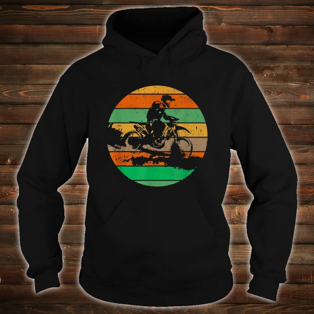 Vintage USA American Flag Dirt Bikes Distressed Shirt hoodie