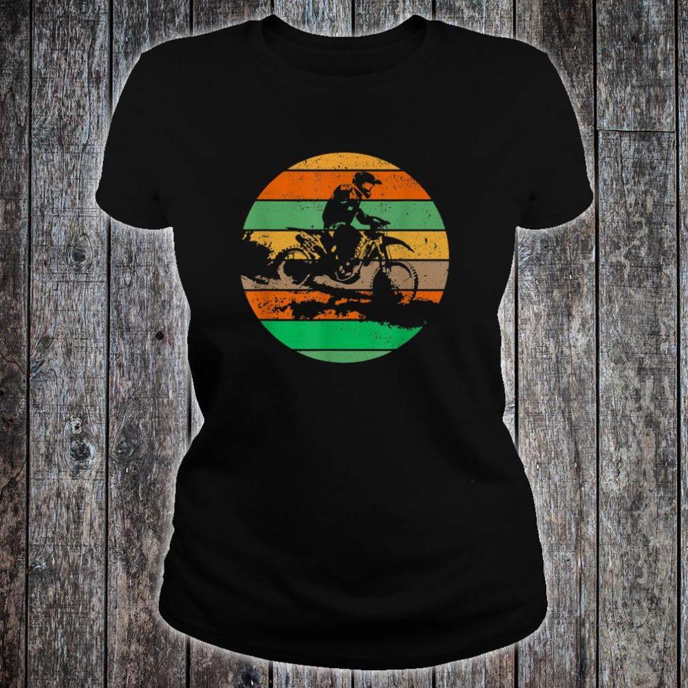 Vintage USA American Flag Dirt Bikes Distressed Shirt ladies tee