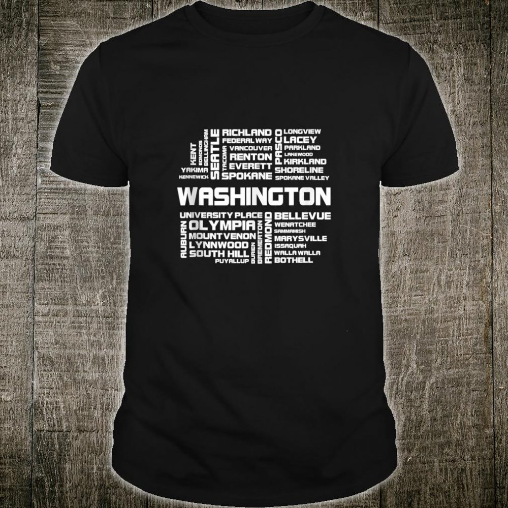 Washington All American Places In The US Federal State Shirt