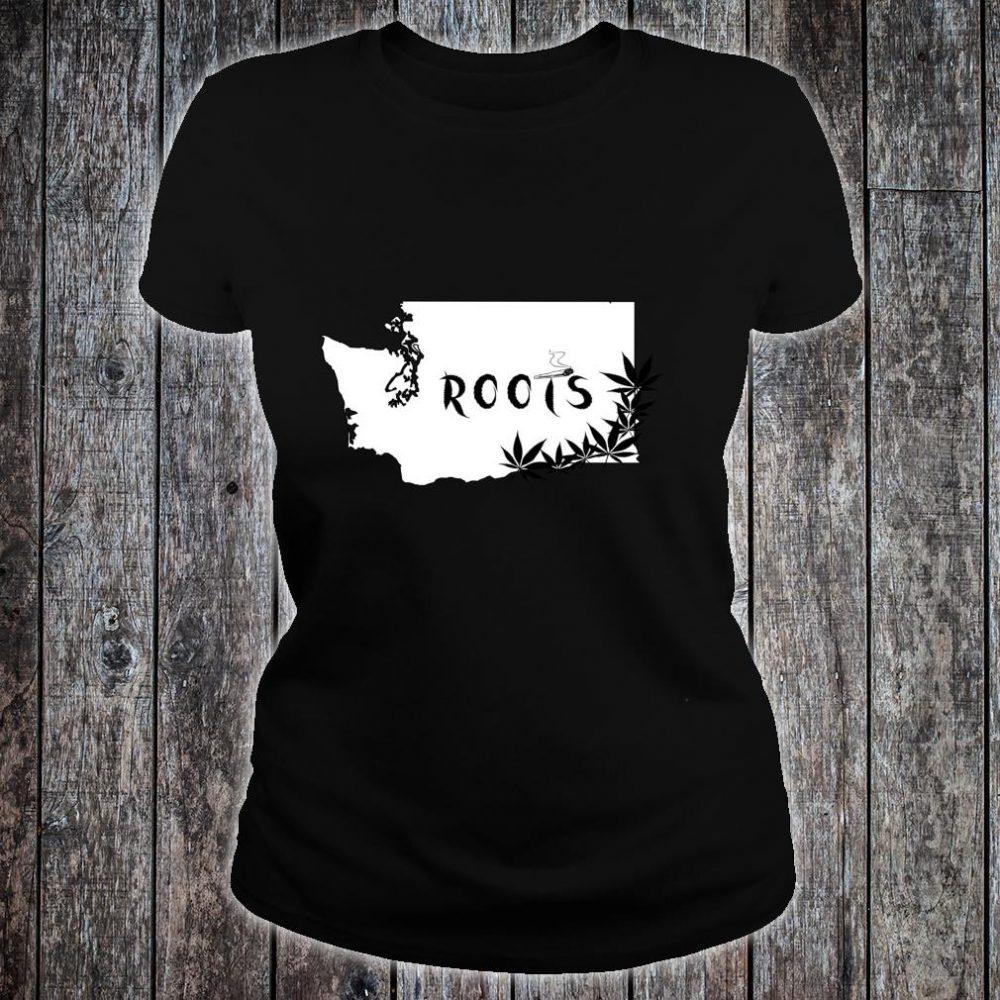 Washington State Roots Weed Shirt ladies tee
