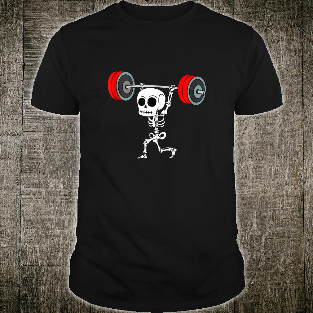 Weightlifting Skeleton Halloween Fitness Gym Workout Costume Shirt