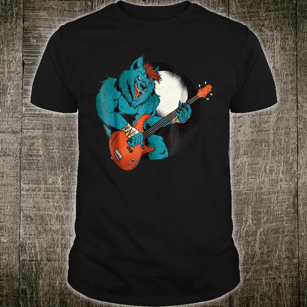 Wolf Bass Werewolf Guitar Player Shirt