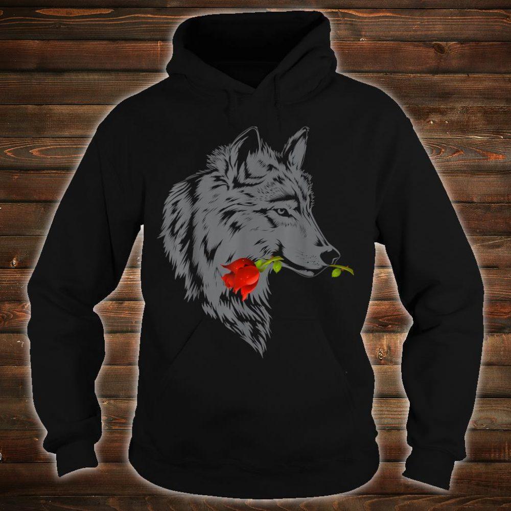 Wolf Rose Cute Valentine Gray Wolf Shirt hoodie