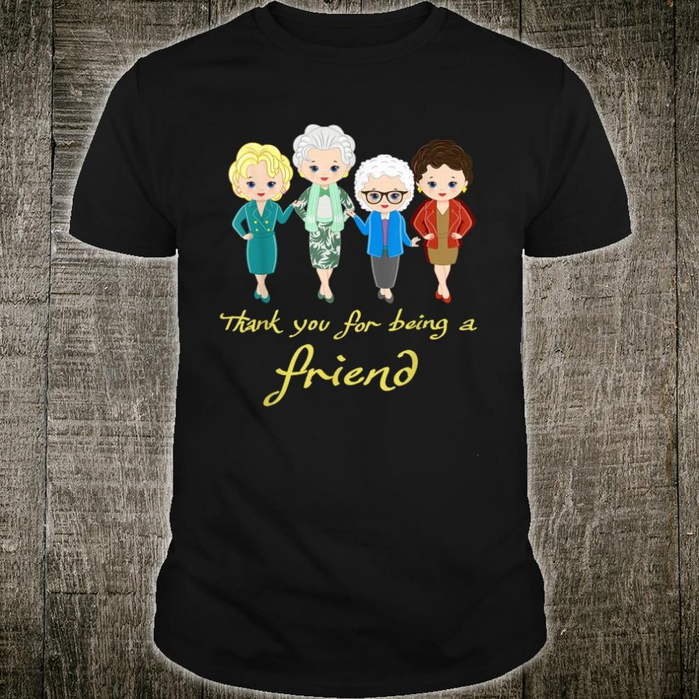 Womans Thank You For Being A Friend Vintage Christmas Shirt