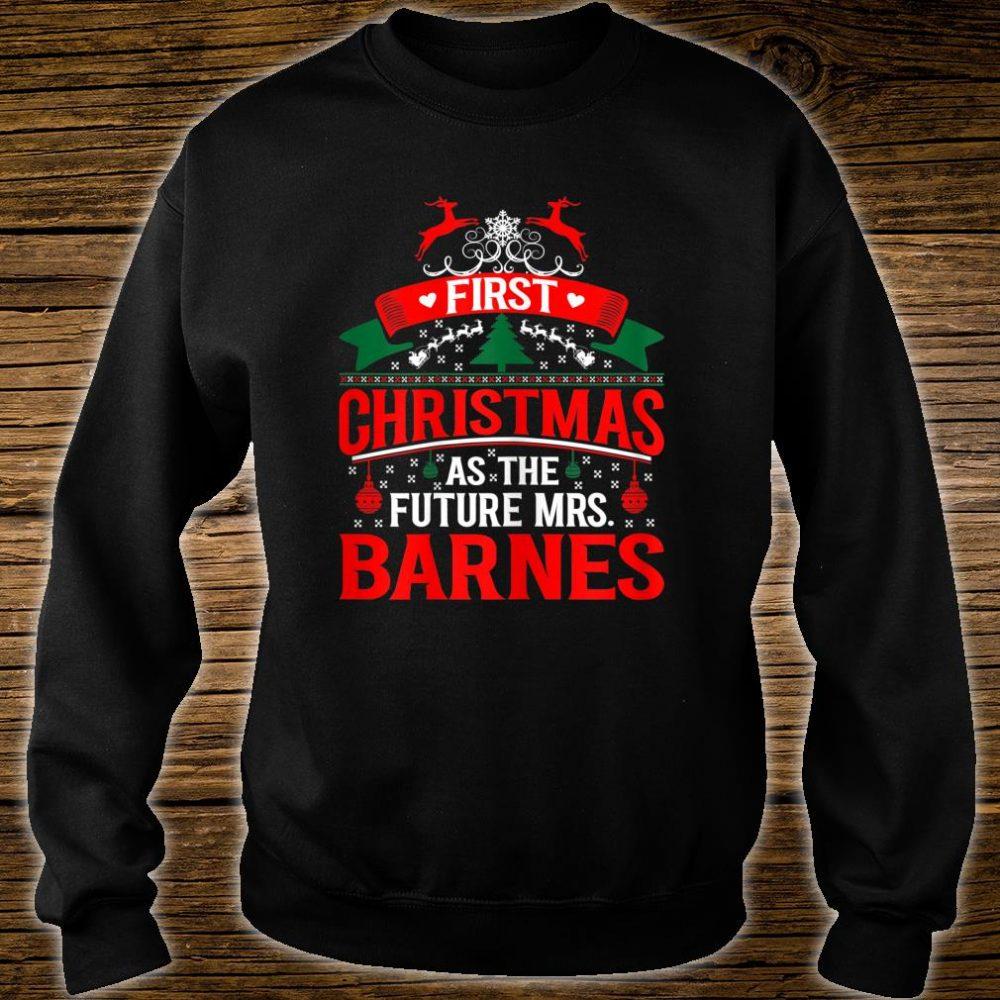 Womens First Christmas As Future Mrs Barnes Shirt sweater