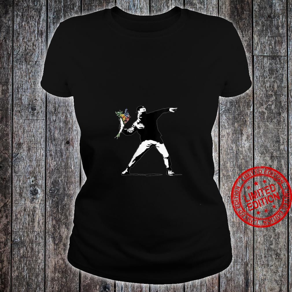 Womens Flower Thrower Graffiti Street Artist Shirt ladies tee
