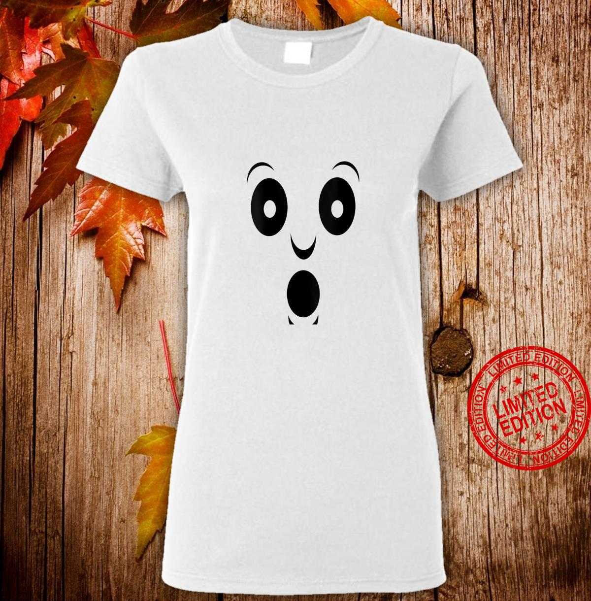 Womens Halloween costume spooky ghost face Shirt ladies tee