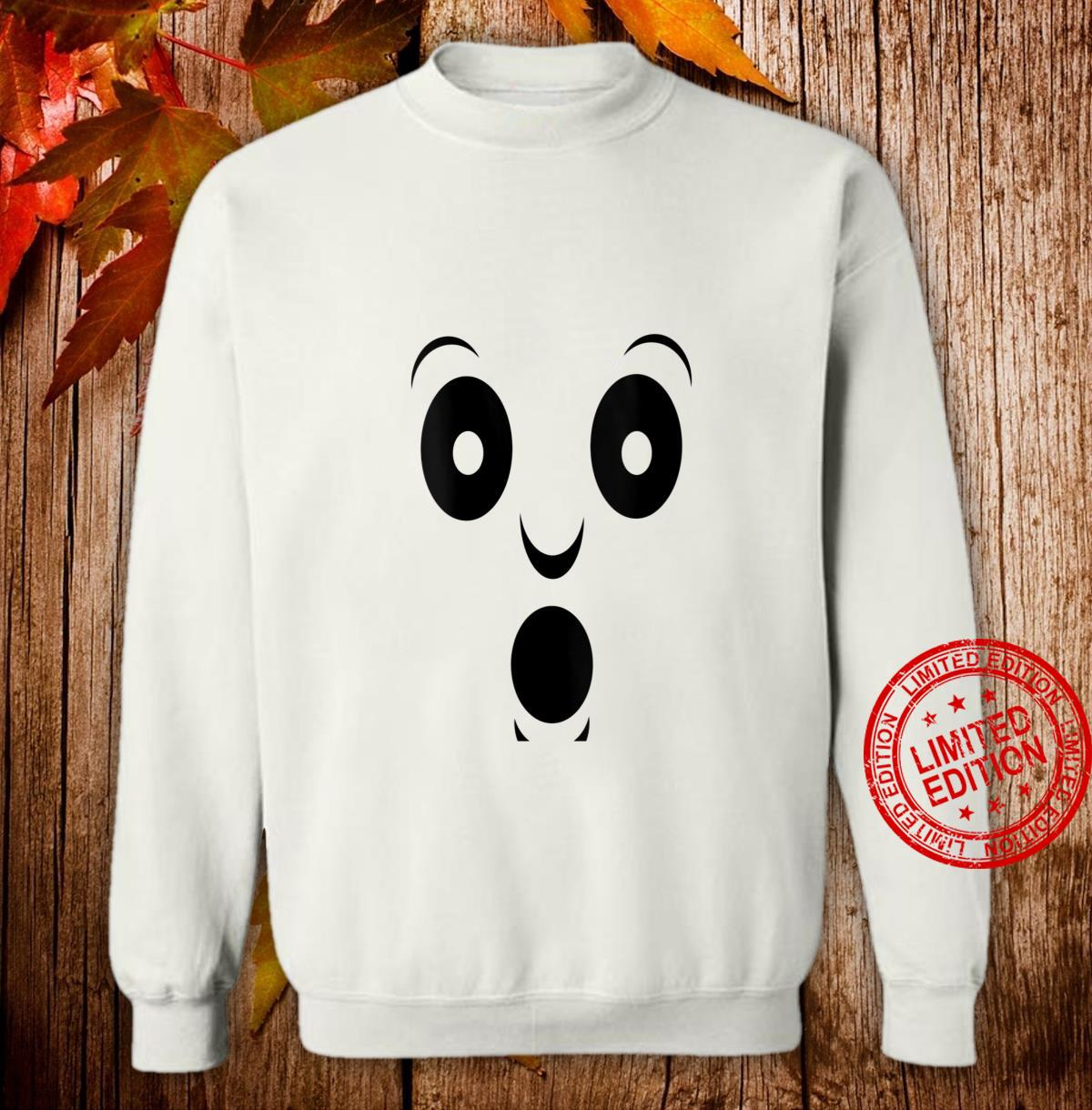 Womens Halloween costume spooky ghost face Shirt sweater