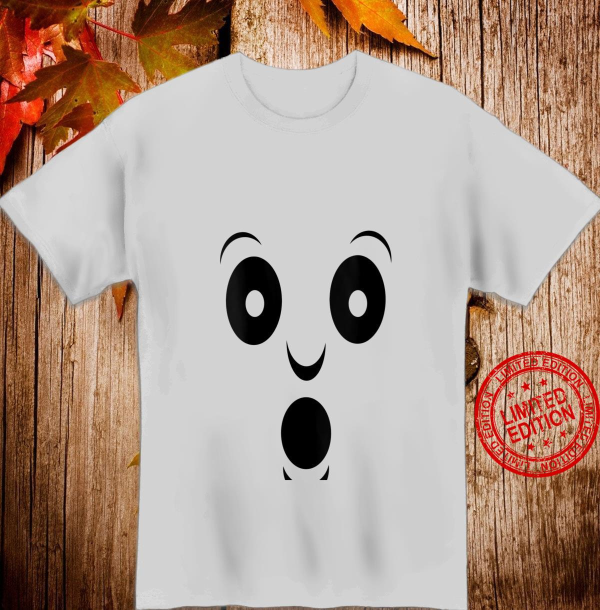 Womens Halloween costume spooky ghost face Shirt