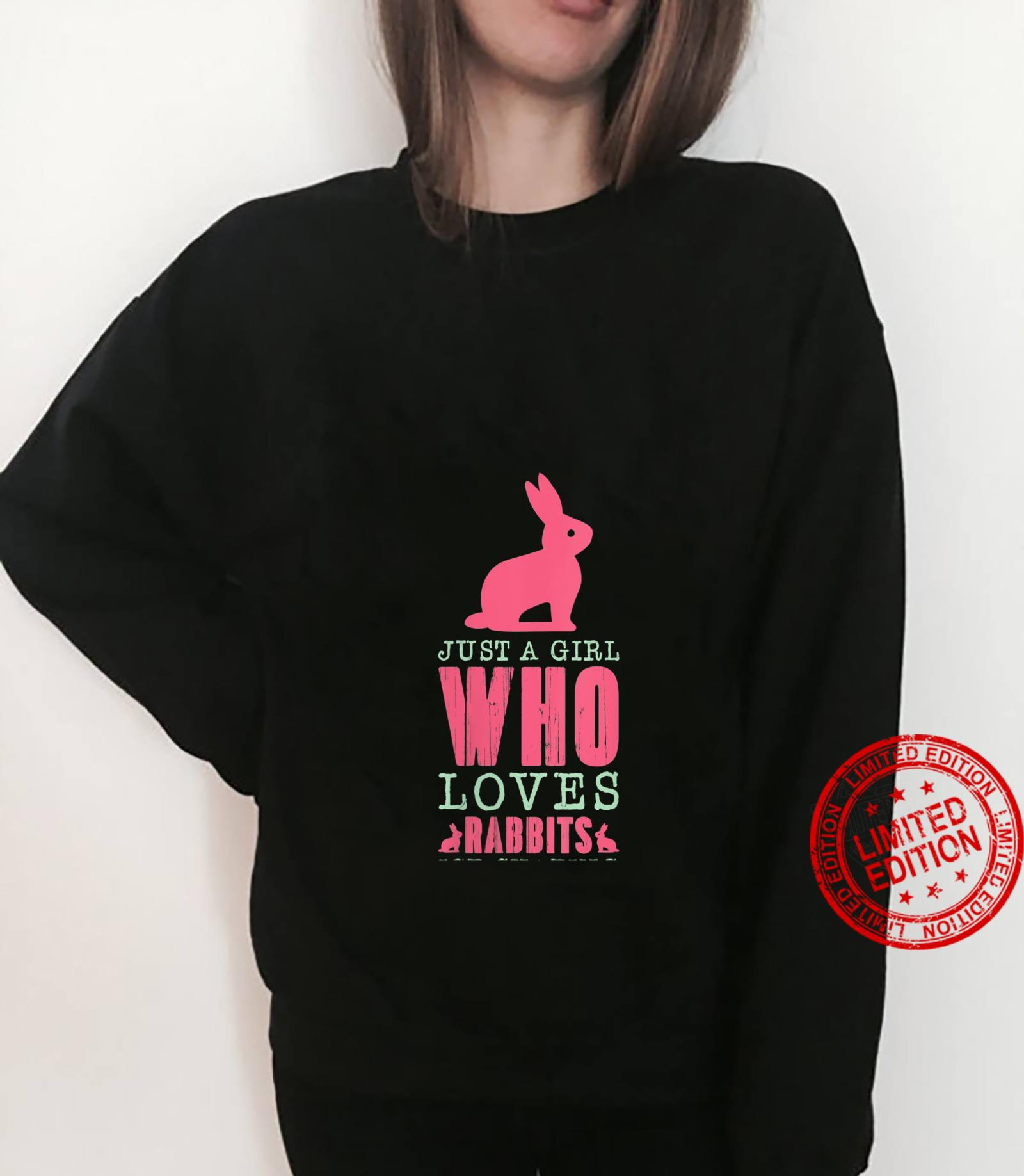 Womens Just A Girl Who Loves Rabbits And Ice Skating Skate Sports Shirt sweater