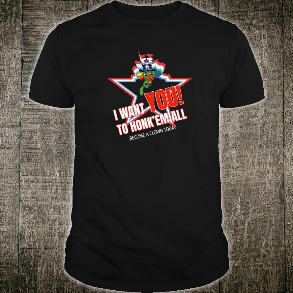 World War Clown Honkler Inspiration Honk'em All Shirt