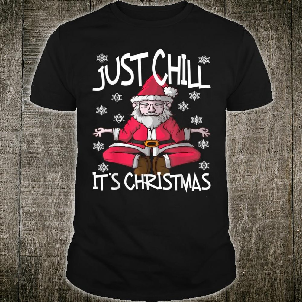 Yoga Santa Claus Christmas Snowflakes Nice Cute Shirt