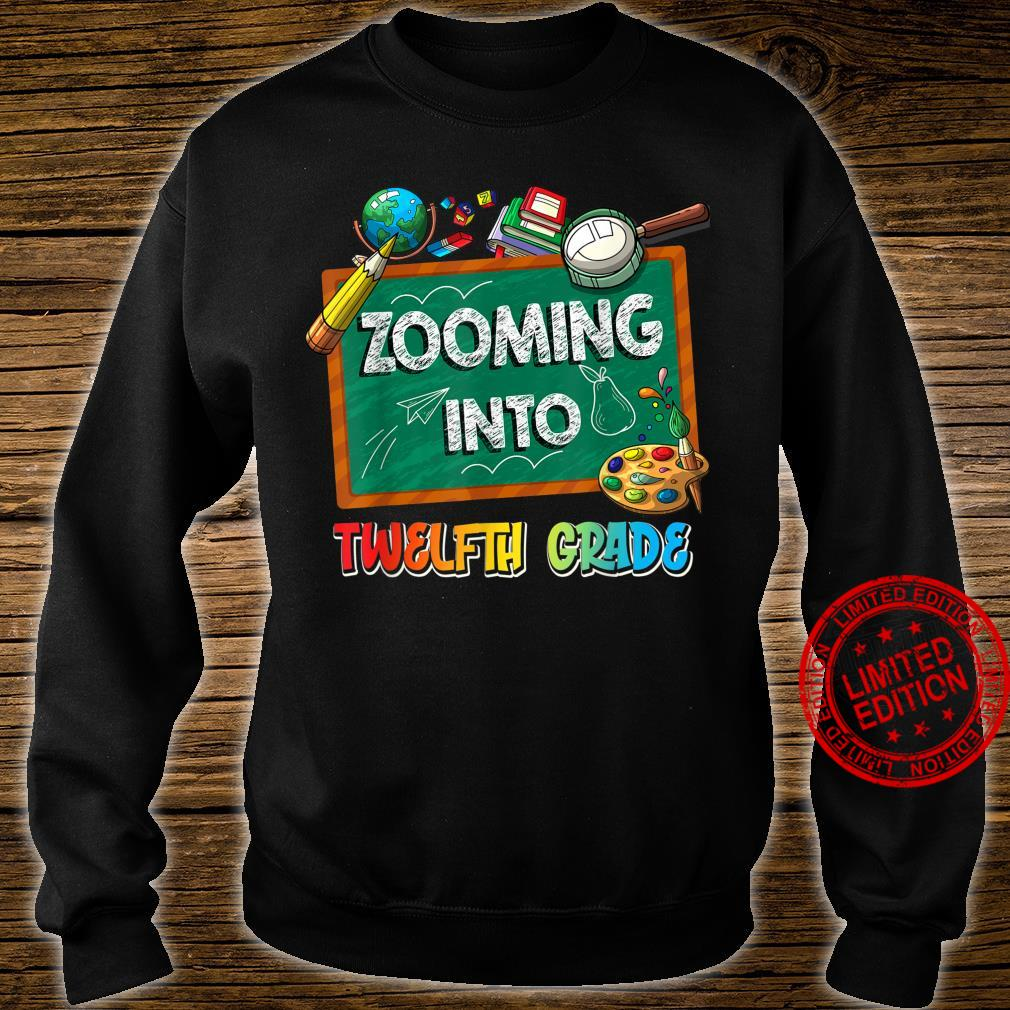 Zooming Into 12th Grade Virtual Back to School Kid Shirt sweater