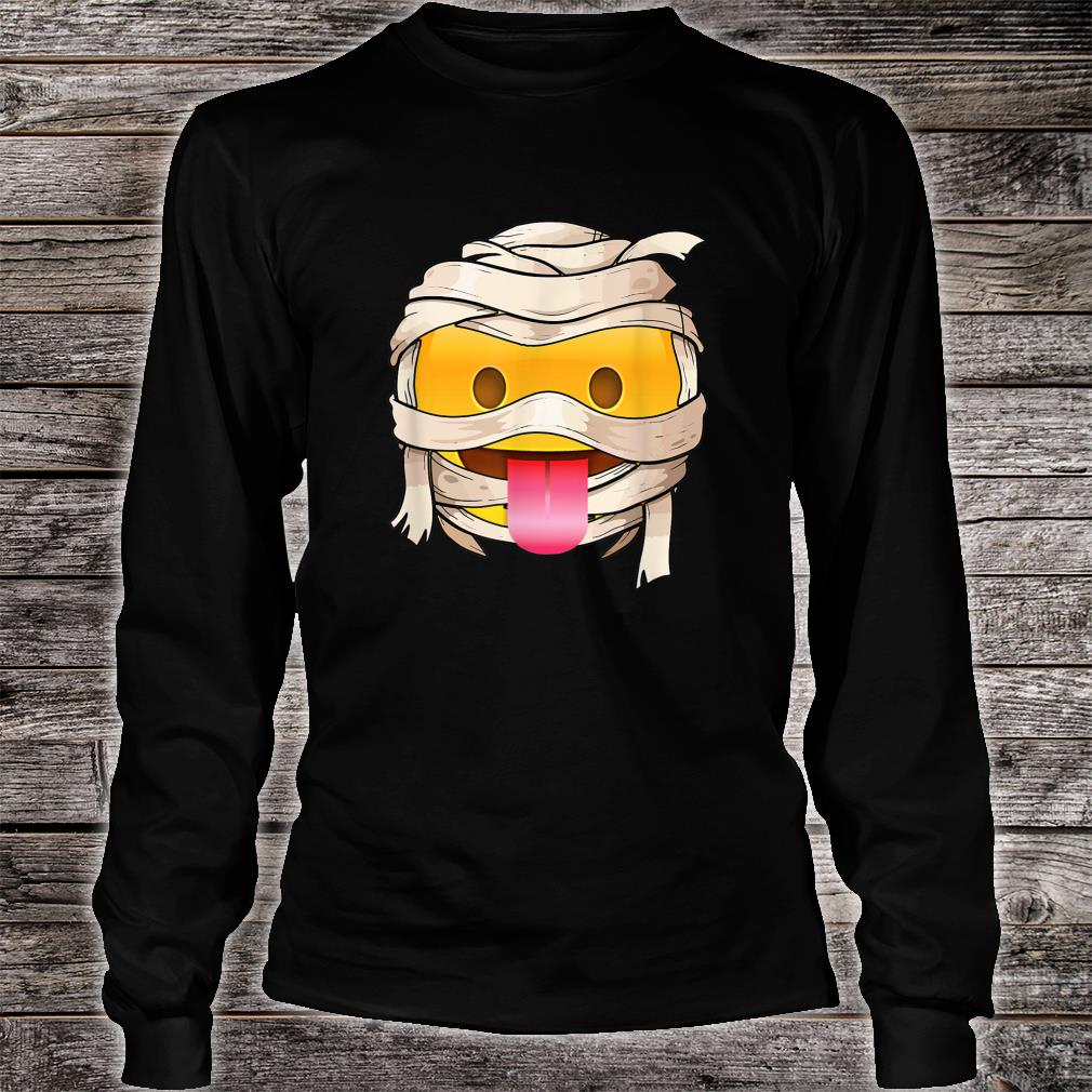 face with tongue Emoji Wink Out Tongue Halloween Costume Shirt long sleeved