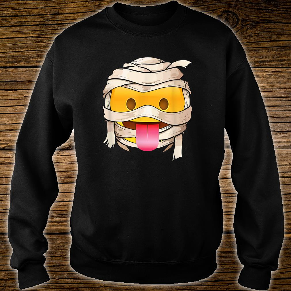 face with tongue Emoji Wink Out Tongue Halloween Costume Shirt sweater
